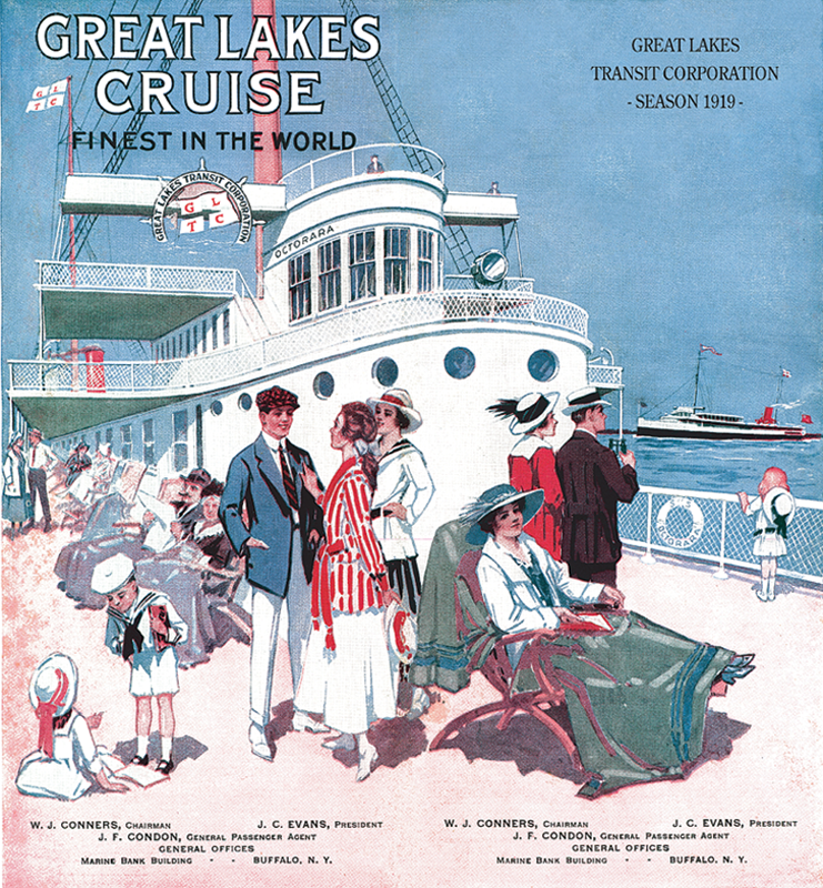 Great Lakes Cruises Blue Poster
