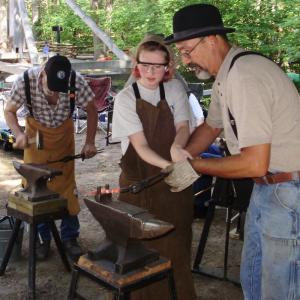 Metalsmith at Hartwick Pines Logging Museum