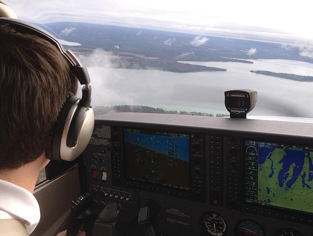 Northwestern Michigan College flight class