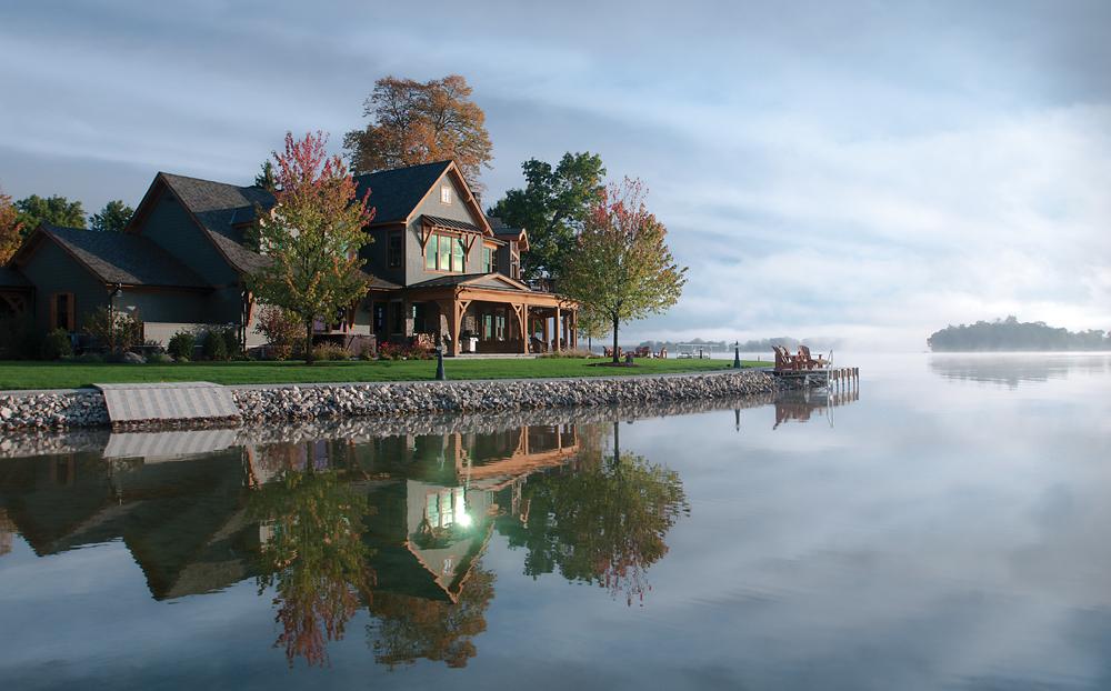 Exterior of Gun Lake home