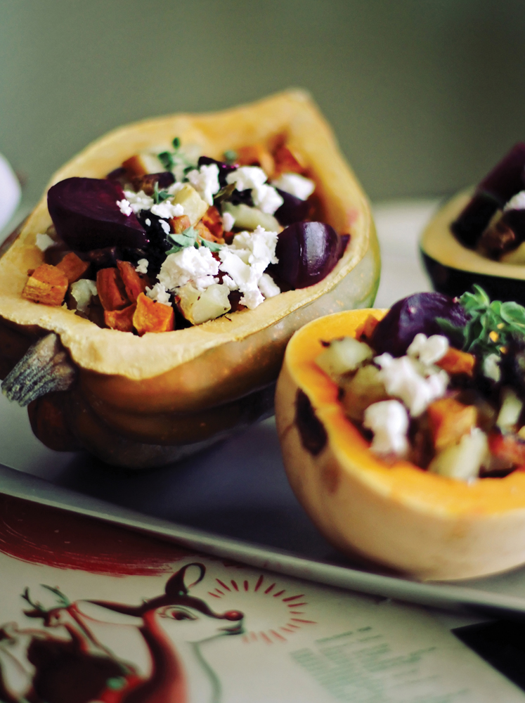 Winter Salad with Root Vegetables, Feta and Oregano