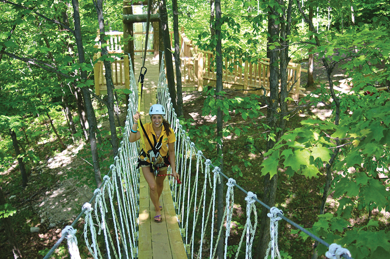 Wildwood Rush Zip Line Canopy Tour Bridge