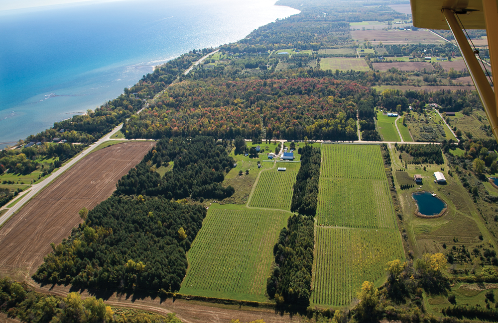 Blue Water Winery Aerial View