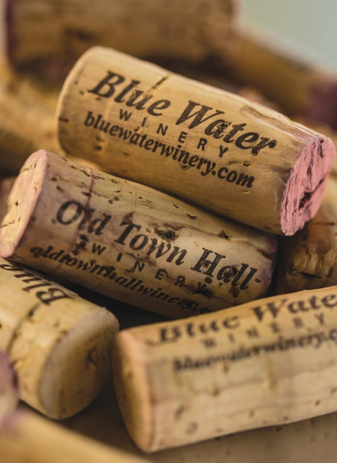 Blue Water Winery Corks