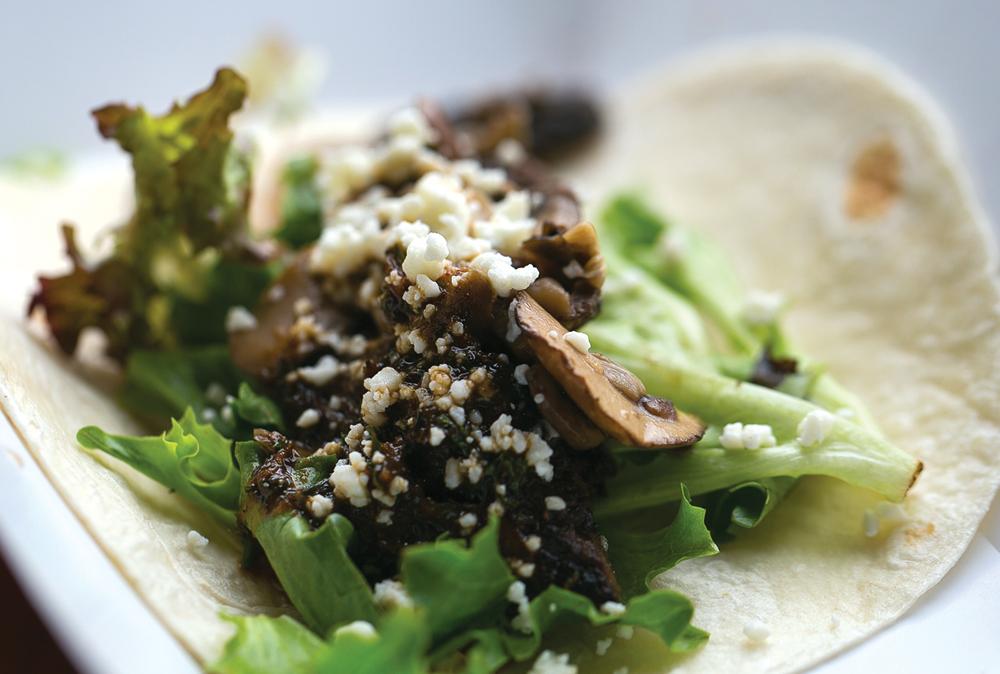 Steak and Morel Tacos
