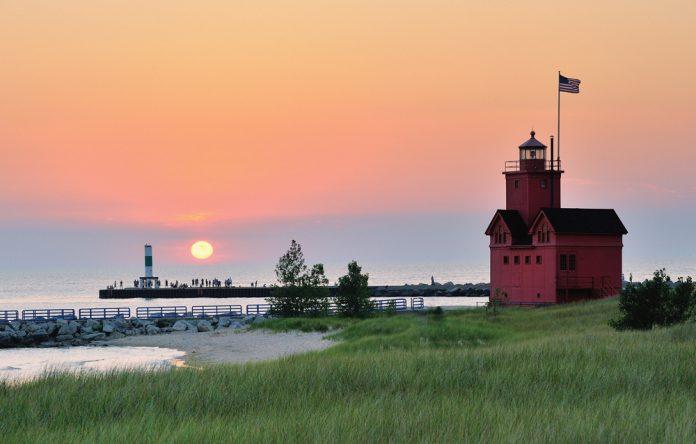 Big Red Holland Harbor Lighthouse