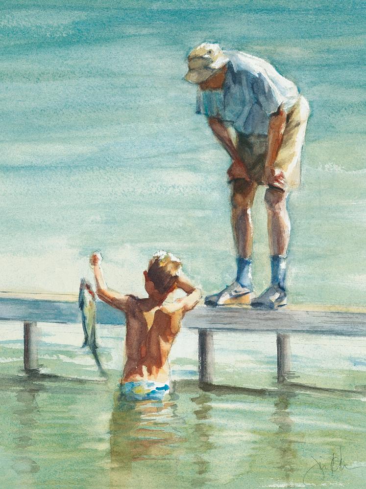 Grandpa Admires Catch
