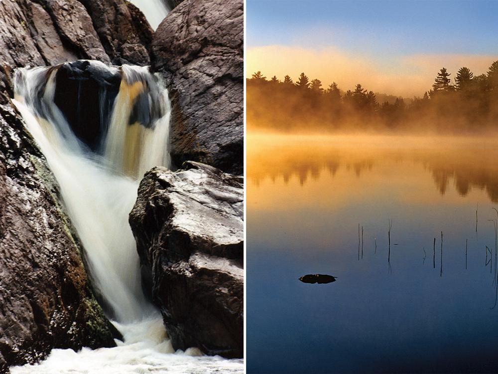 Bakers Falls and Lake Marion
