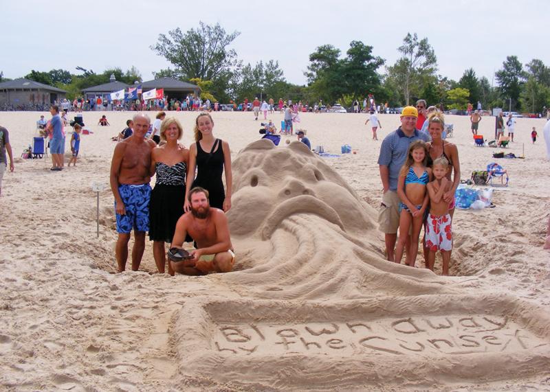 Blown Away Sand Sculpture