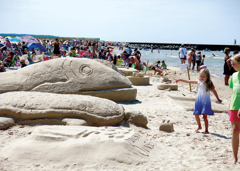 Pentwater Sand Sculpture