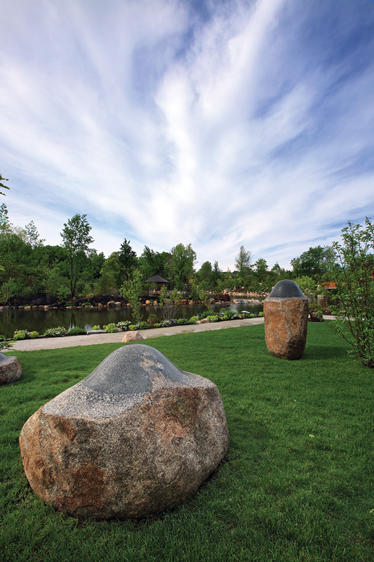 Japanese Garden Rock Titled Existence Masayuki Koorida