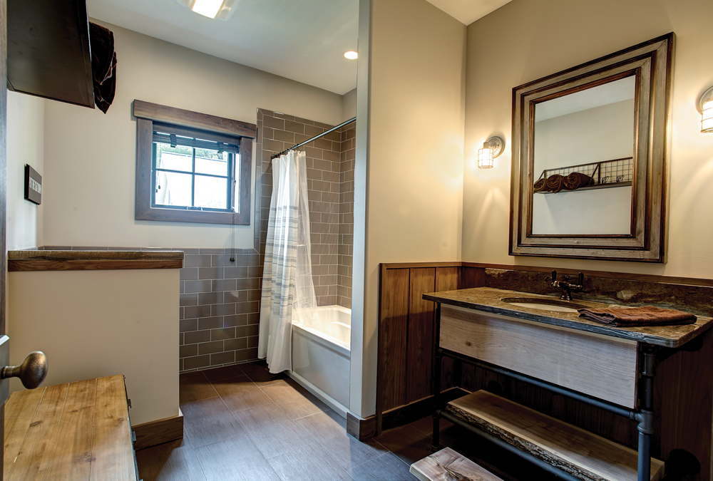 The Lodge's guest bathroom