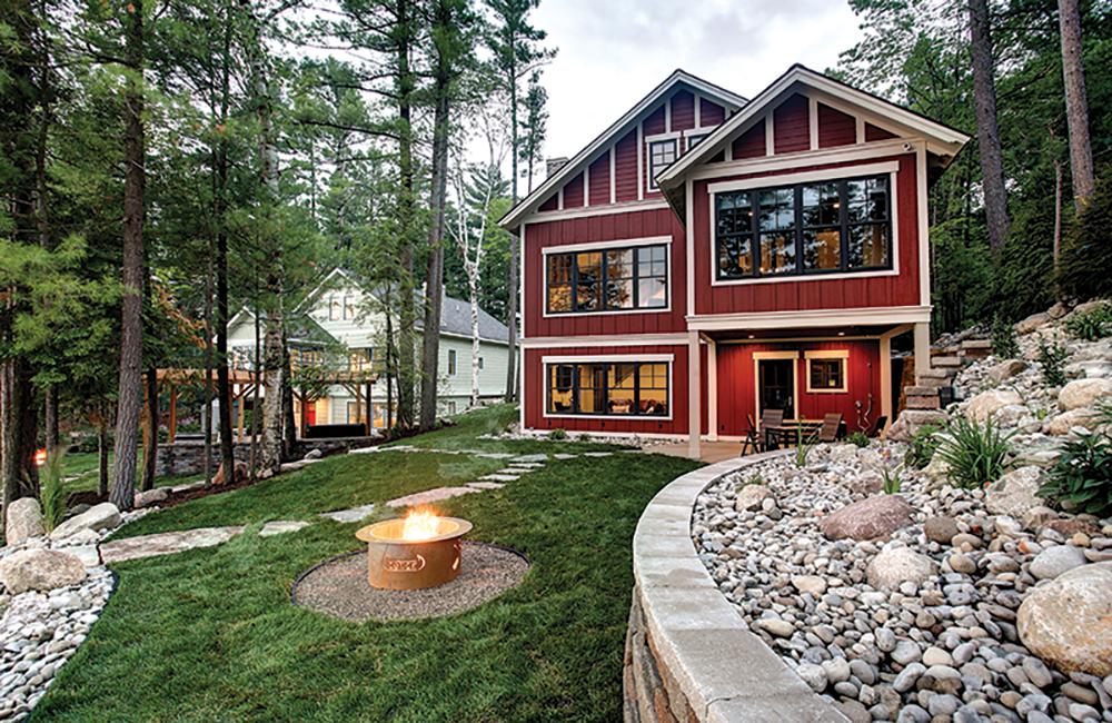 Lodging feature duplicate custom-designed homes