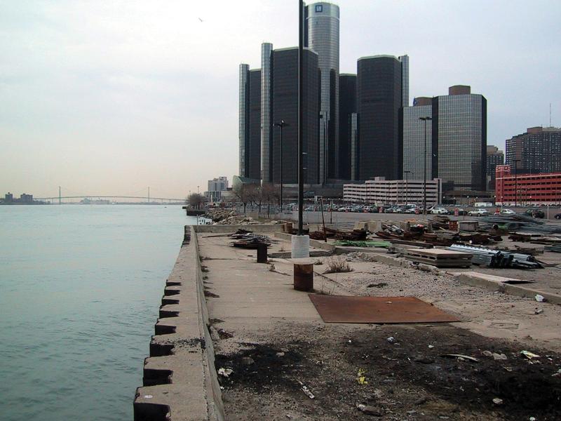 Detroit Riverwalk - before