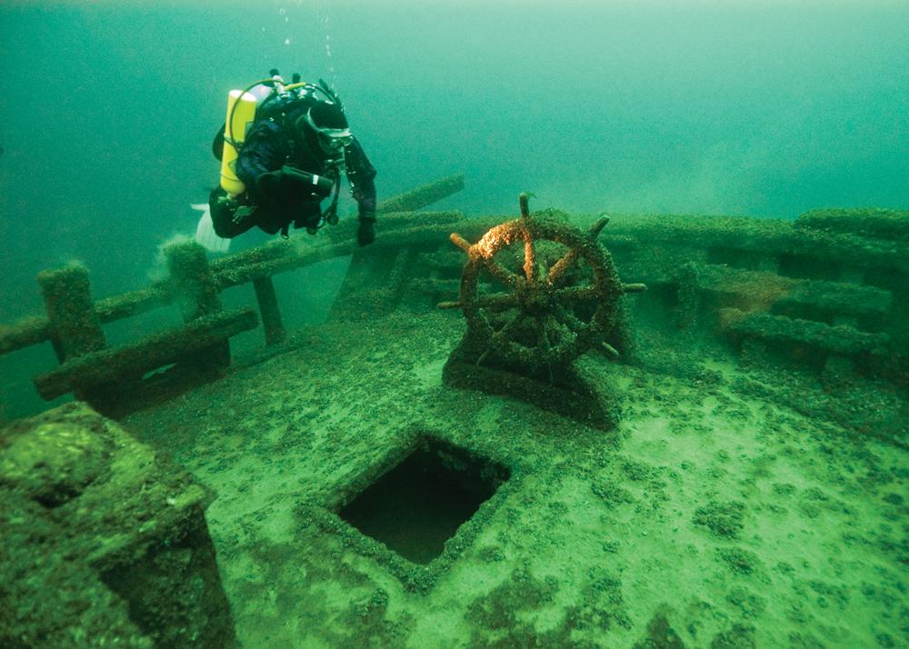 Alpena Shipwreck Scuba Diver