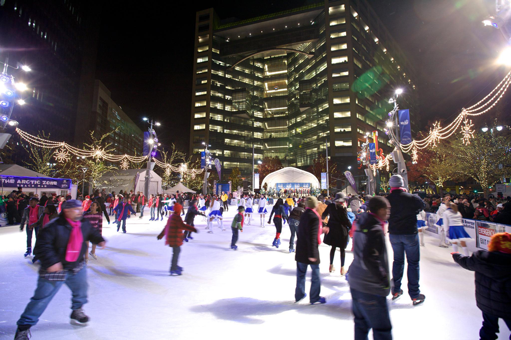 Campus Martius Park Ice Skating Rink