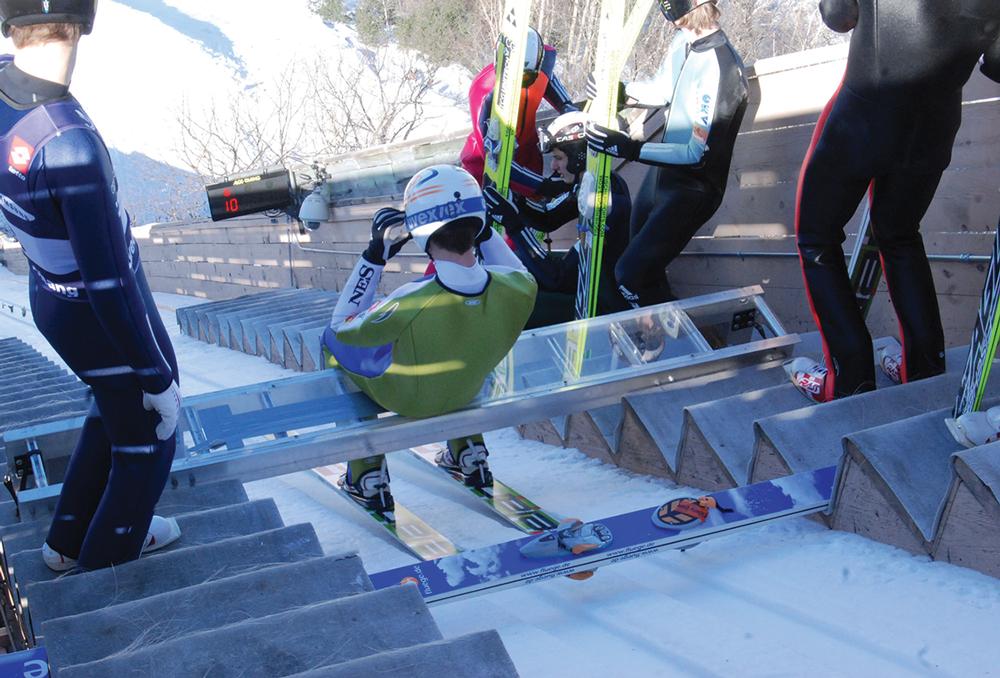 Ski Jumper Gearing Up