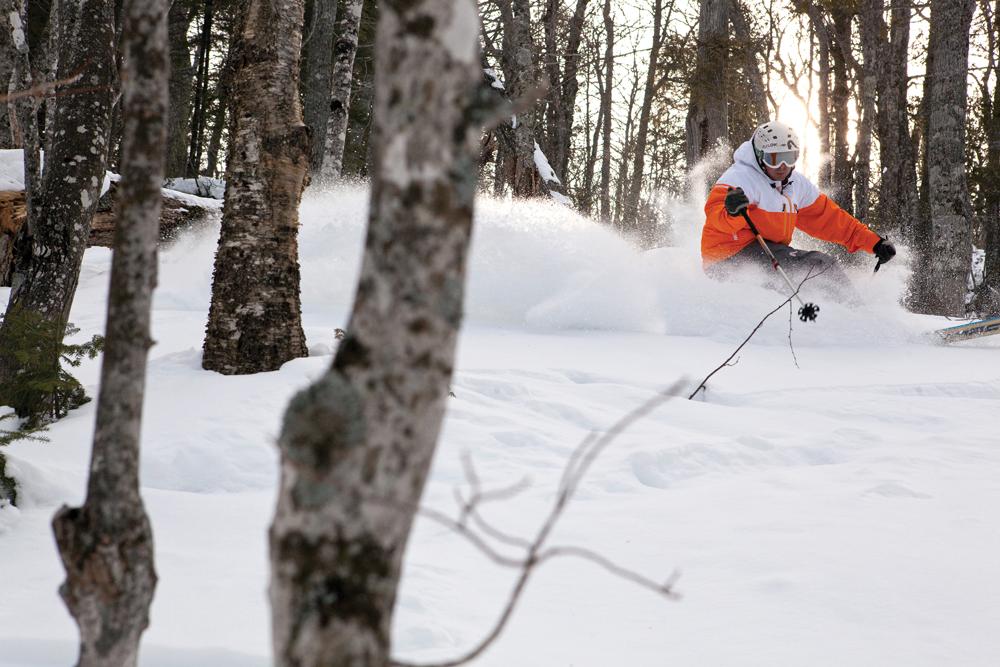 Joey Wallis Skiing Michigan Powder