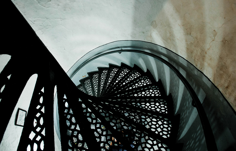Big Sable Point Lighthouse - spiral staircase