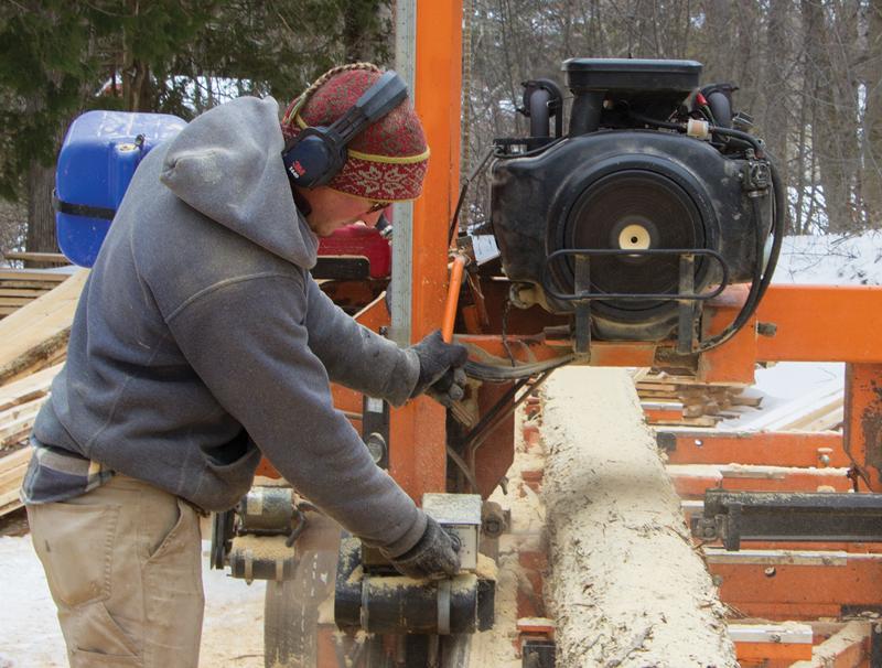 Barnwell cutting wood