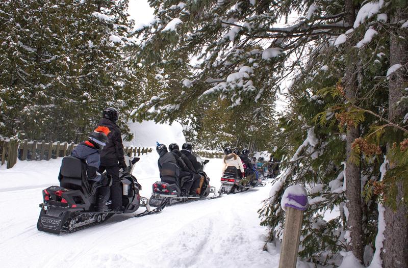 Winter activities on Mackinac Island
