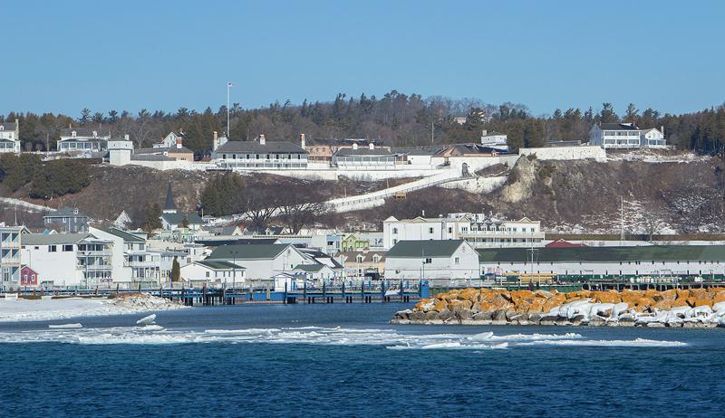 Winter town - Mackinac Island