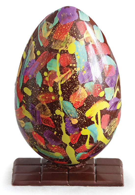 Decorated Artisanne chocolate egg