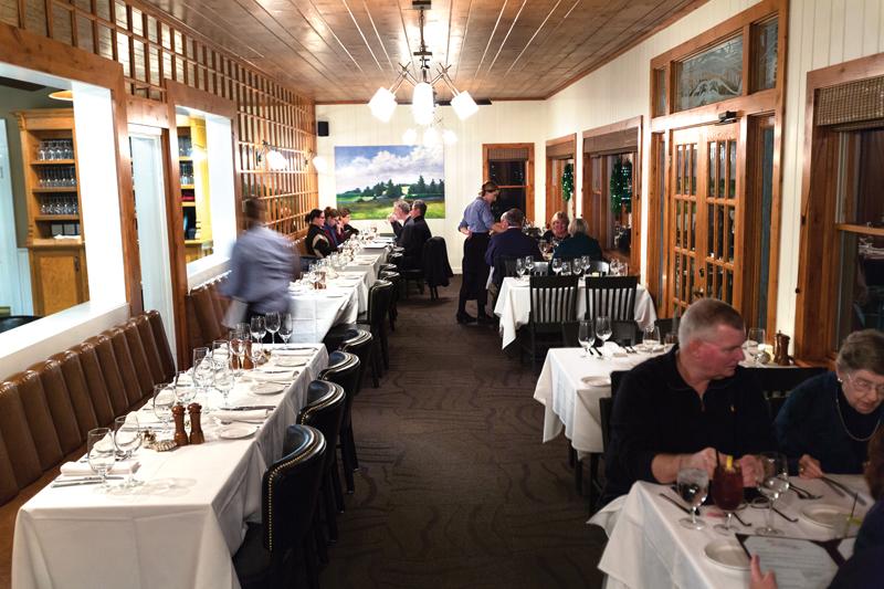 Dining room of the Riverside Inn