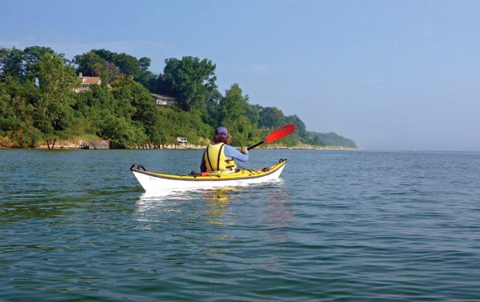 Paddling Lake Michigan