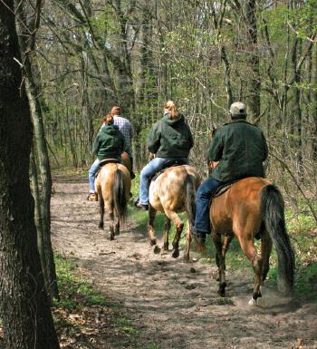 Indiana Dunes - Horseback riders on trail