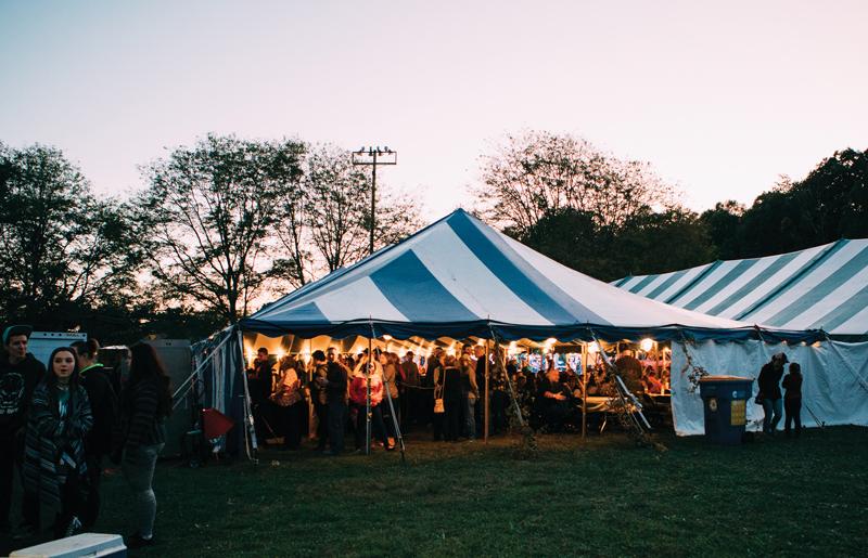 Oktoberfest tent in Michigan
