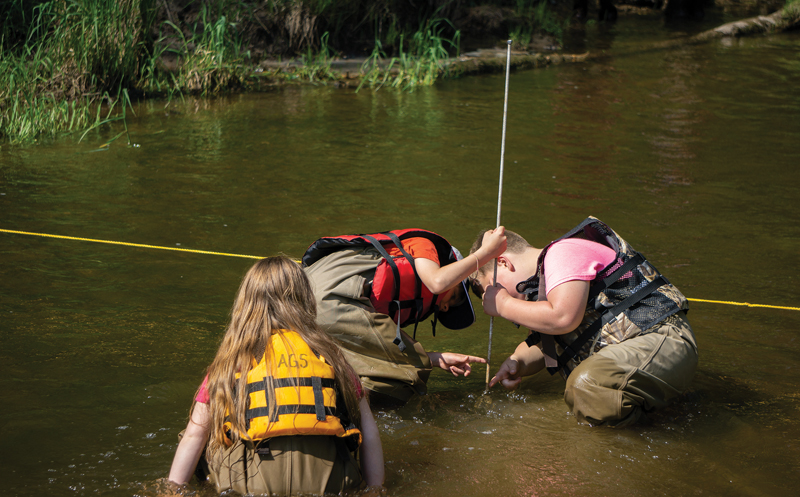 Au Gres students monitor water quality
