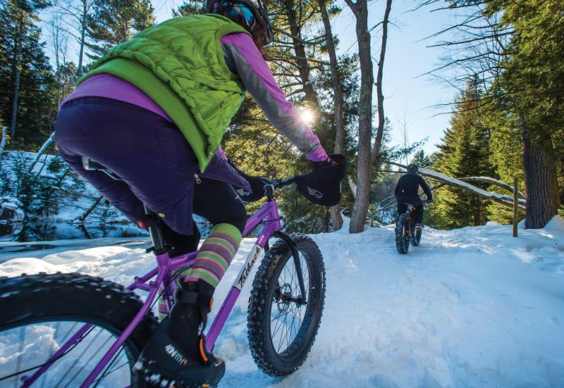 Dead River fat bike trails in Marquette, Michigan.