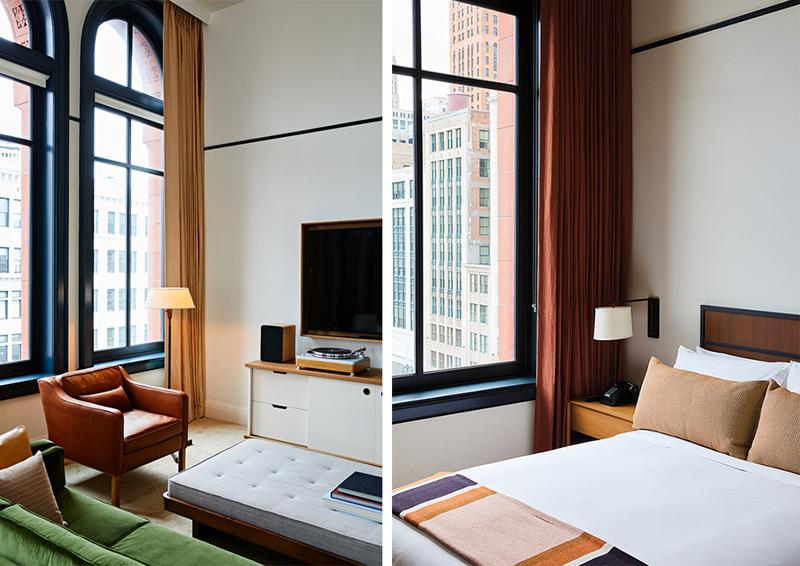 Shinola Hotel room layout