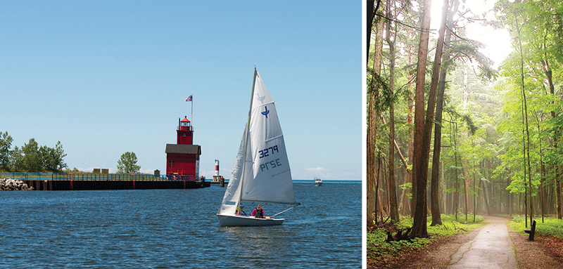 Holland State Park and Hartwick Pines