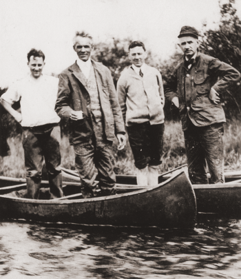 Henry Ford on a boat