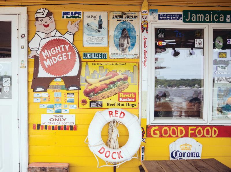 Red Dock Café walls