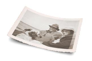 Aldo, wife Estella, and dog Flick