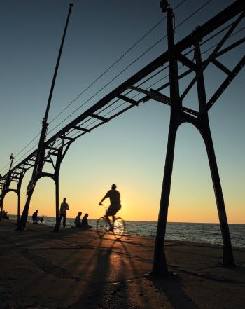 Lake Michigan pier at Grand Haven