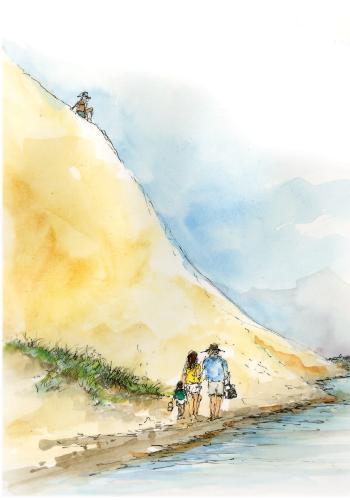 Glen Lake illustration - hill