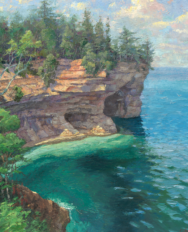 Cliffs by the water
