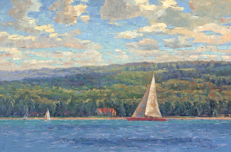 Sailing Lake Charlevoix