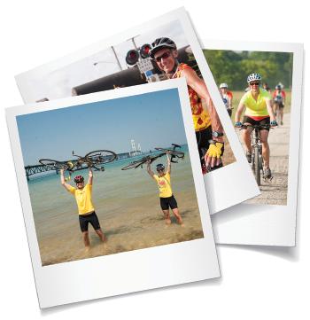 Biking polaroids