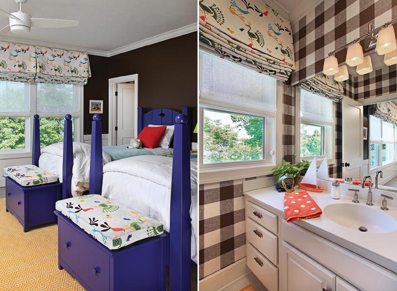 Welch bunkbeds & children's bathroom