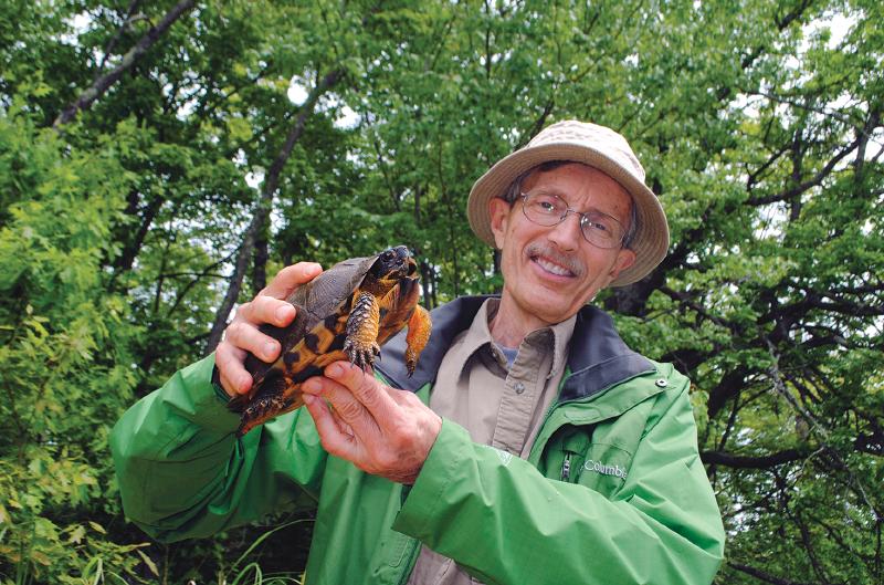 Jim Harding with turtle