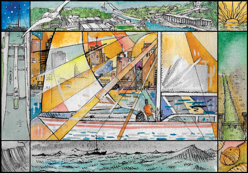 Lake mural