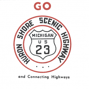 Michigan US-23 Huron Shore Scenic Highway Sign
