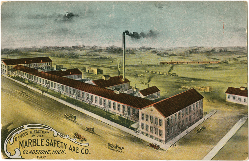 Marble Safety Axe Co. postcard