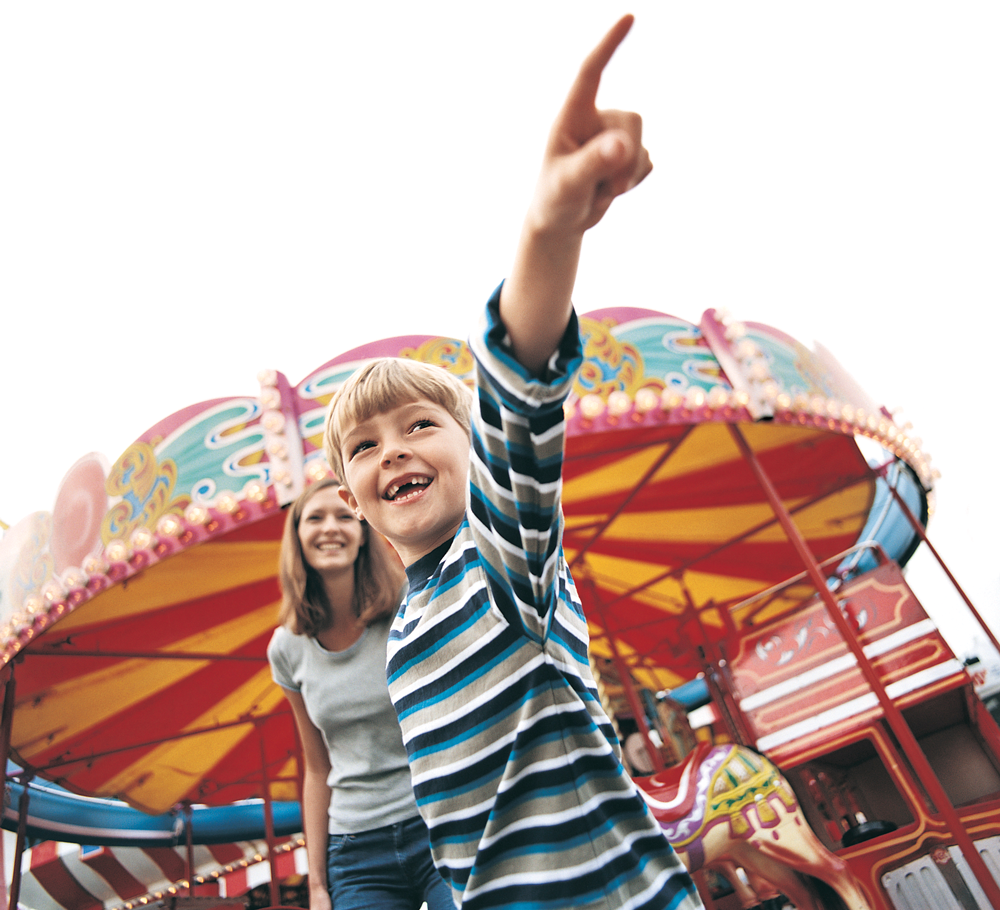 Children at a Carnival Ride