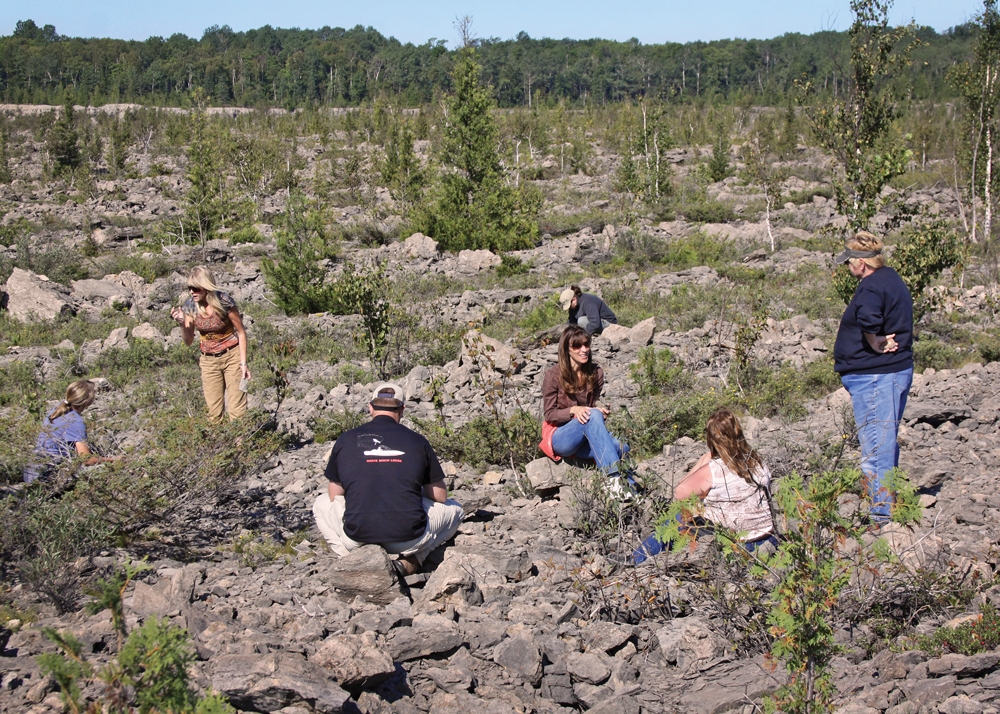 Fossil hunting in Rockport Quarry